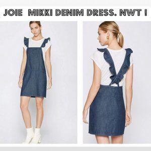 NWT JOIE Mikki Denim Dress Flounce Blue Size XS